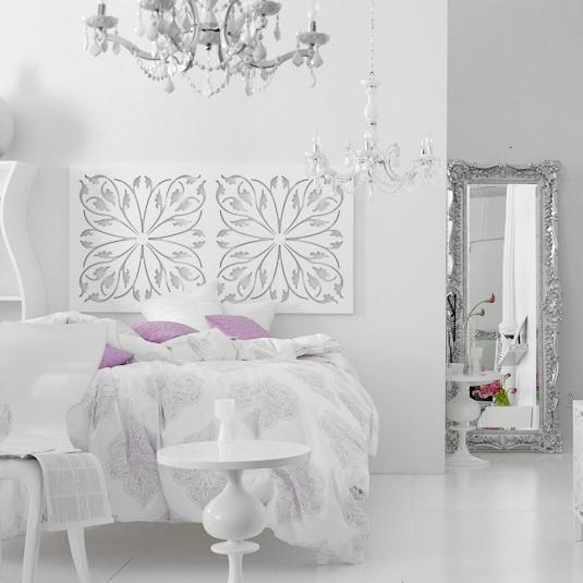 Brocade home white room